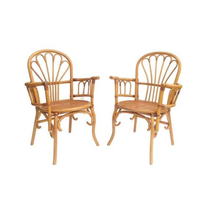 1980s Vintage Bent Bamboo Arm Chairs - a Pair For Sale - Image 13 of 13