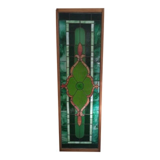 1970s Vintage Stained Glass Panel For Sale