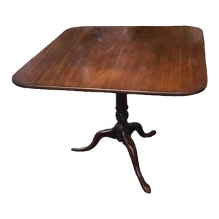 19th Century Georgian Mahogany Side or Tripod Table For Sale