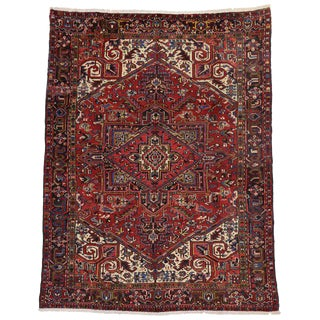 20th Century Persian Heriz Rug - 7′7″ × 9′11″ For Sale
