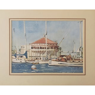 Catalina Island Harbor by Ruth Hynds For Sale