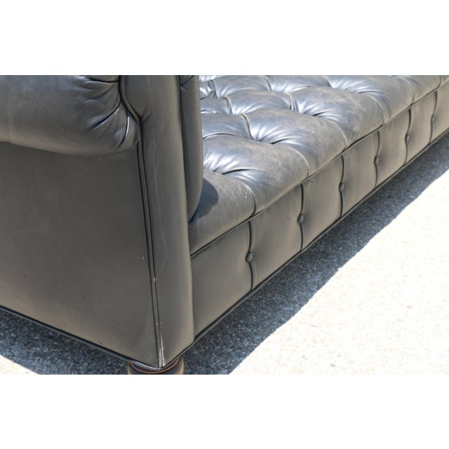 Black Tufted Chesterfield Sofa - Image 10 of 11