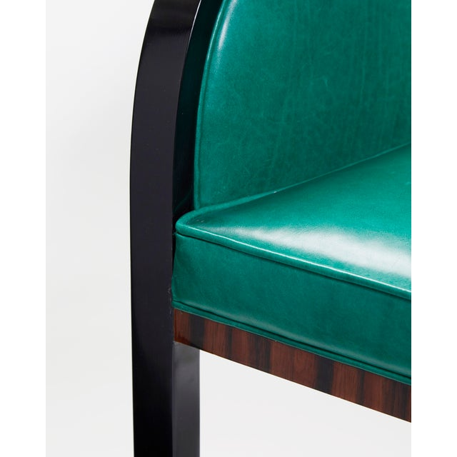 2010s Macassar Ebony Black Lacquer and Bronze Trim Dining or Occasional Chair For Sale - Image 5 of 7