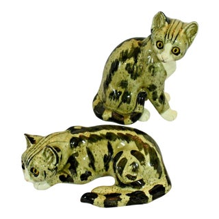 1970s Andrea by Sadek Cat Figurines-a Pair For Sale