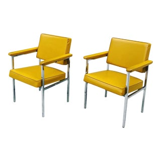 Mid-Century Modern Steel Case Arm Chairs For Sale