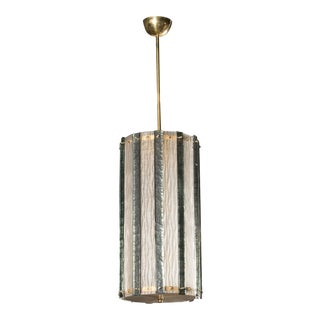 Large Murano Piastra Gass Pendant or Lantern For Sale