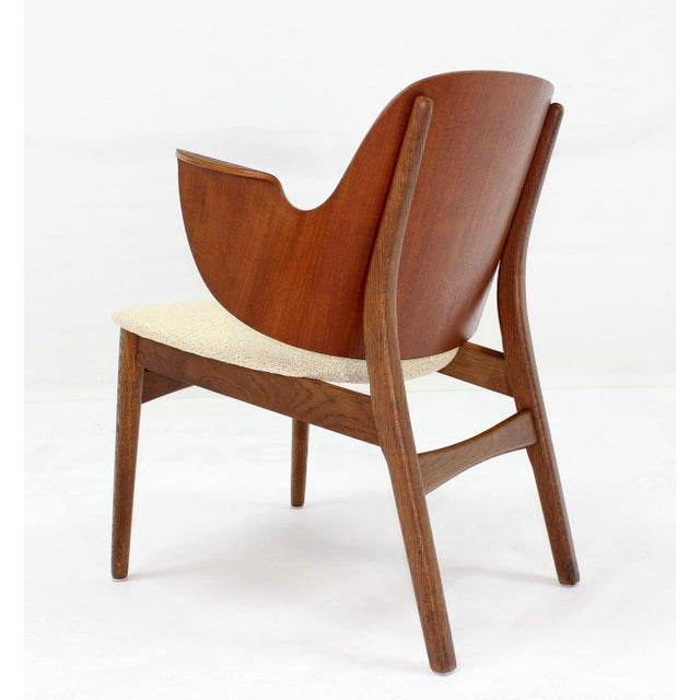 Mid-Century Modern Molded Plywood Barrel Back Armchair with New Upholstery For Sale - Image 4 of 10