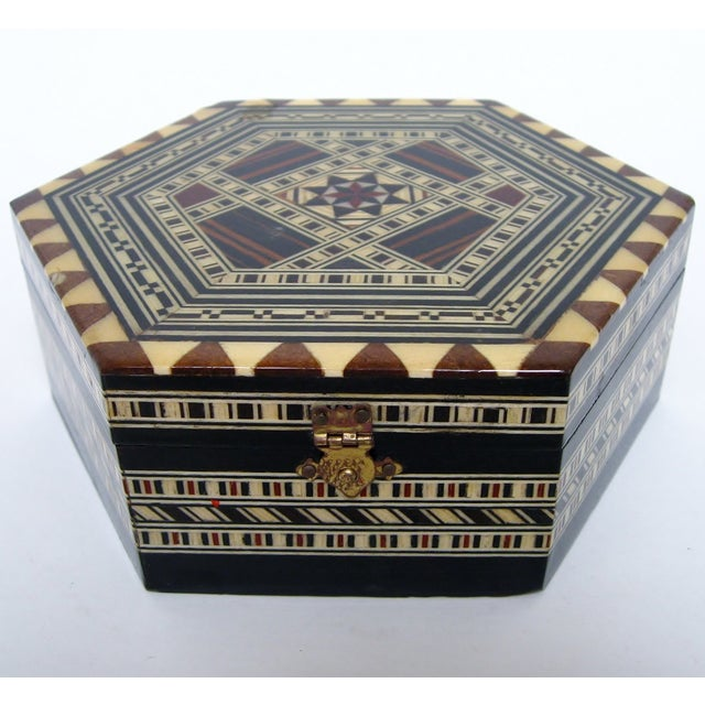 Boho Chic Inlay Wood Box - Image 3 of 8