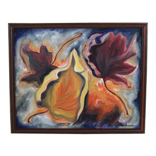 "Expressionist ""Fall Leaves"" Oil Painting For Sale"