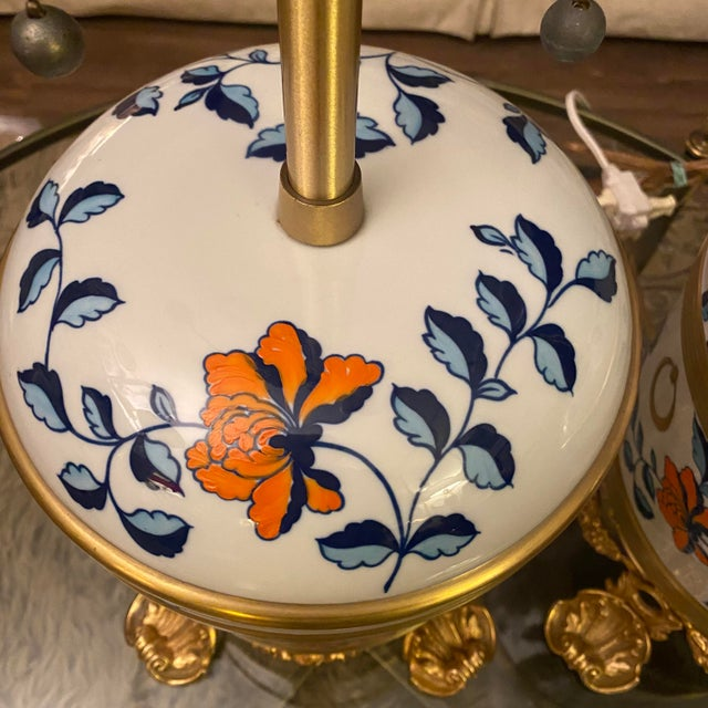 Mid 18th Century Antique Sevres Porcelain & Ormolu Marbro Lamps -a Pair For Sale - Image 5 of 13