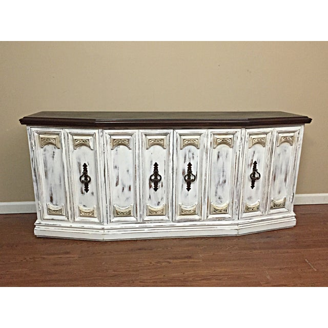 Distressed Wooden Sideboard Buffet - Image 7 of 9
