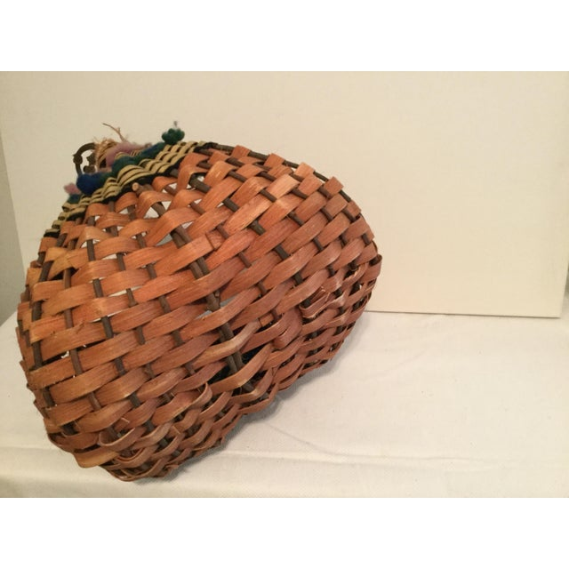 Vintage Rustic Cottage Style Basket For Sale In Columbia, SC - Image 6 of 7