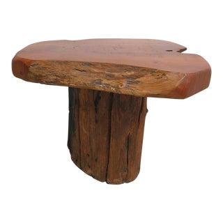 Vintage Adirondack Free Form Live Edge Log Footstool
