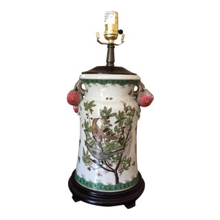 1970s Traditional White Porcelain Gentleman's Lamp For Sale