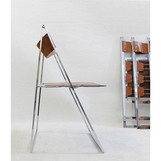 Set Of 4 Folding Chairs 'Elios' By Fontoni & Geraci - 1960s