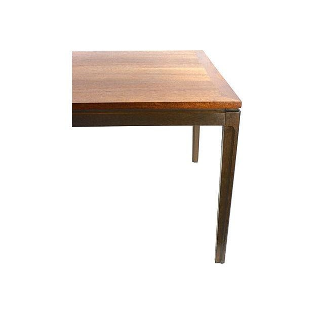 Mid-Century Danish Modern Two-Tone Teak End Table - Image 4 of 5