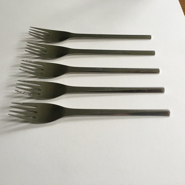 Georg Jensen Prism Stainless Steel Forks - S/5 - Image 4 of 5