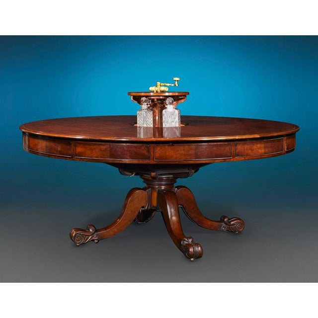 Mid 19th Century Irish Mahogany Dining and Games Table For Sale - Image 5 of 6