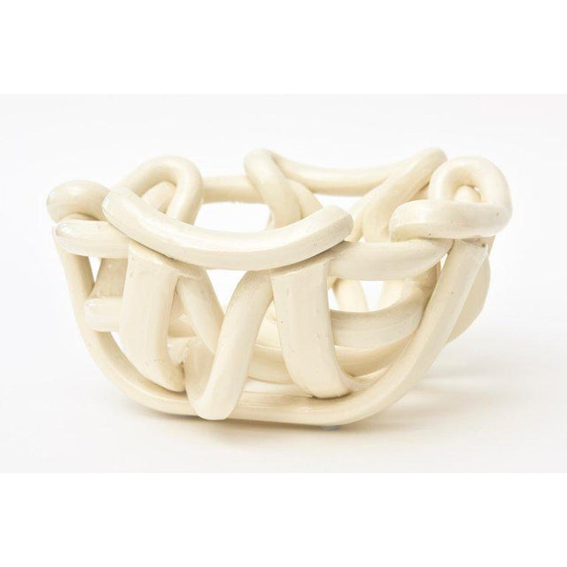 Twisted Coiled Ceramic Sculptural Bowl For Sale - Image 4 of 11
