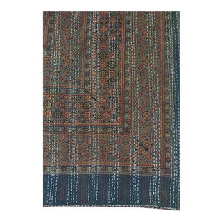 Boho Chic Ajrak Kantha Quilt For Sale