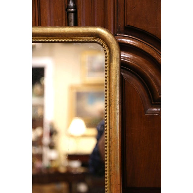 Mid-19th Century French Louis Philippe Giltwood Mirror With Mercury Glass For Sale In Dallas - Image 6 of 11