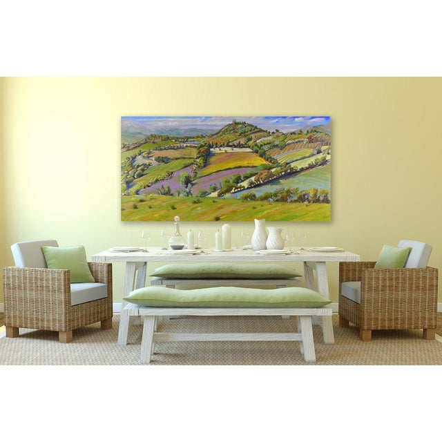 """Tuscan Geometry"" oil painting. Gallery wrapped canvas with clean white sides. Ready to hang. Framing optional. Signed by..."