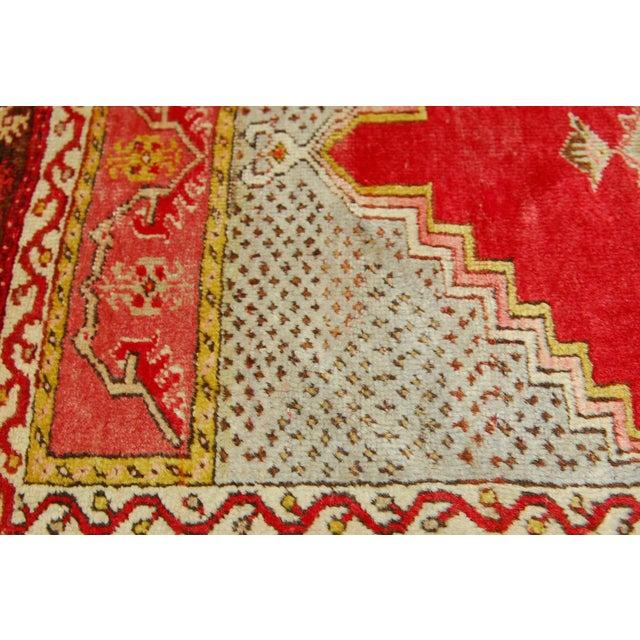 "Islamic Antique Turkish Prayer Rug - 3'2"" x 4'11"" For Sale - Image 3 of 5"