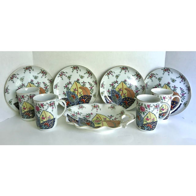 This is a beautiful set of fine china made in Japan by Seymour Mann in the 1970's. The set includes a mug and plate for 4...