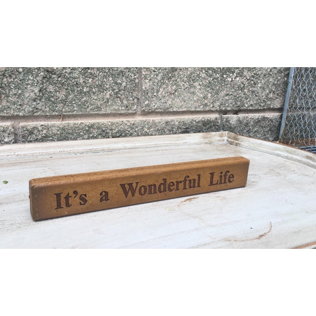 Vintage It's a Wonderful Life Sign - Image 3 of 5