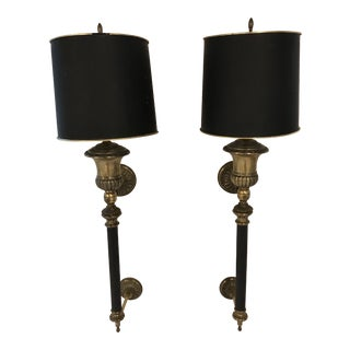 1970s Vintage Wall Sconce Torchere Lamps - A Pair
