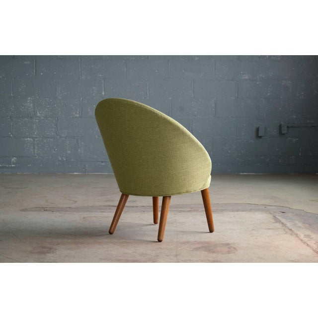Green Small Danish Easy Chair Model 301 by Ejvind A. Johansson for Gotfred H. Petersen For Sale - Image 8 of 10