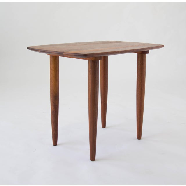 Mid-Century Modern Prelude Walnut Side Table For Sale - Image 3 of 7