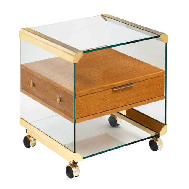 Brass and Glass Modernist Side Table For Sale - Image 10 of 10
