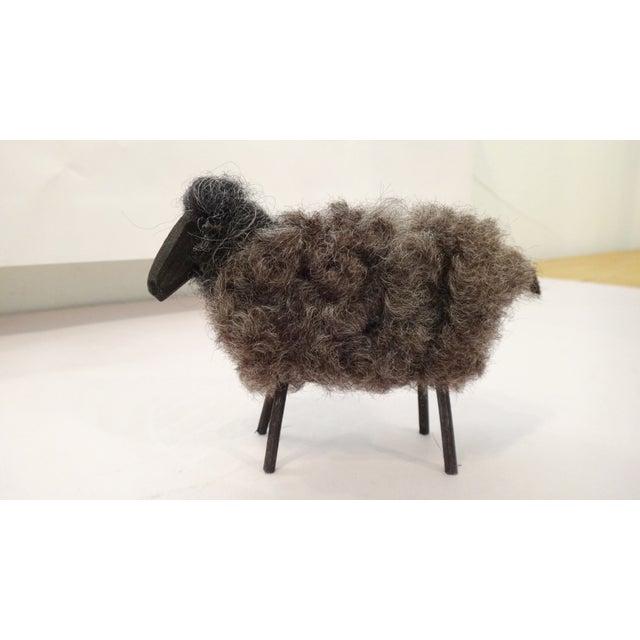 Fuzzy Wool Sheep Figure - Image 2 of 6