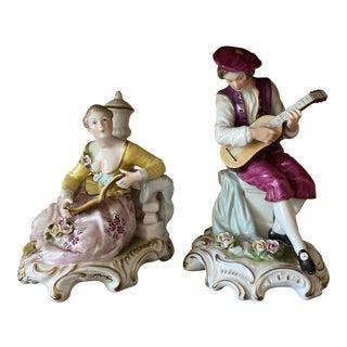 Chelsea House Porcelain Figurines - a Pair For Sale
