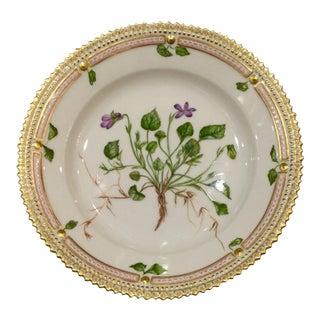 "Floria Danica ""Viola Muhlenbergiana B Minor Hook"" Dessert Plate For Sale"