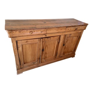 Antique French Pine Sideboard For Sale