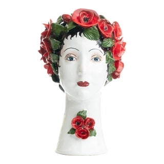 Sculpture with Roses, Ceramiche D'arte Dolfi For Sale