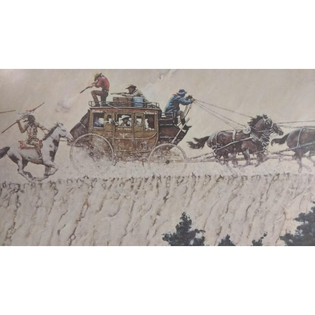 1966 Norman Rockwell Stagecoach Signed Print For Sale - Image 5 of 9
