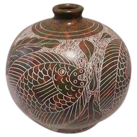 Nicaraguan Artisan Pottery Vase - Image 1 of 7