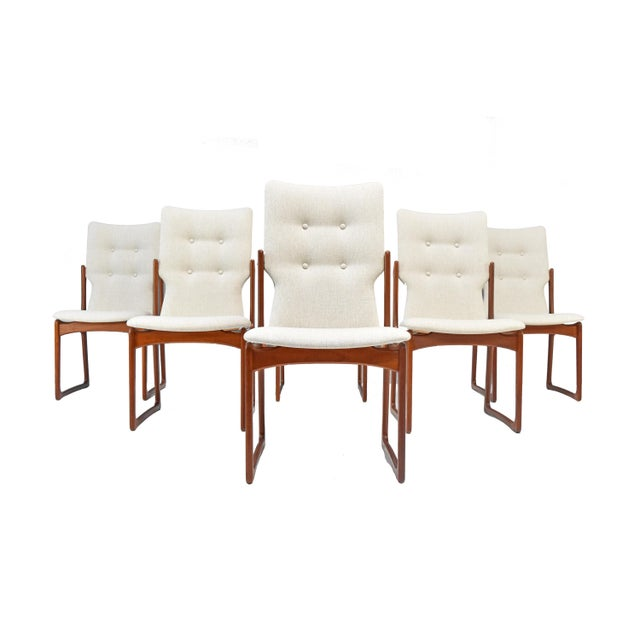 90adfa89777da Danish Modern Teak Dining Chairs by Vamdrup Stolefabrik - Set of Six For  Sale - Image