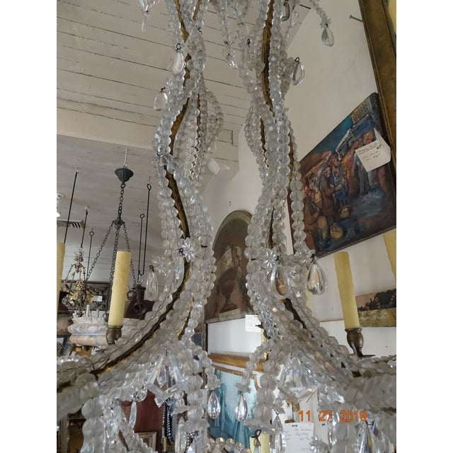 French Crystal Chandelier For Sale - Image 9 of 12