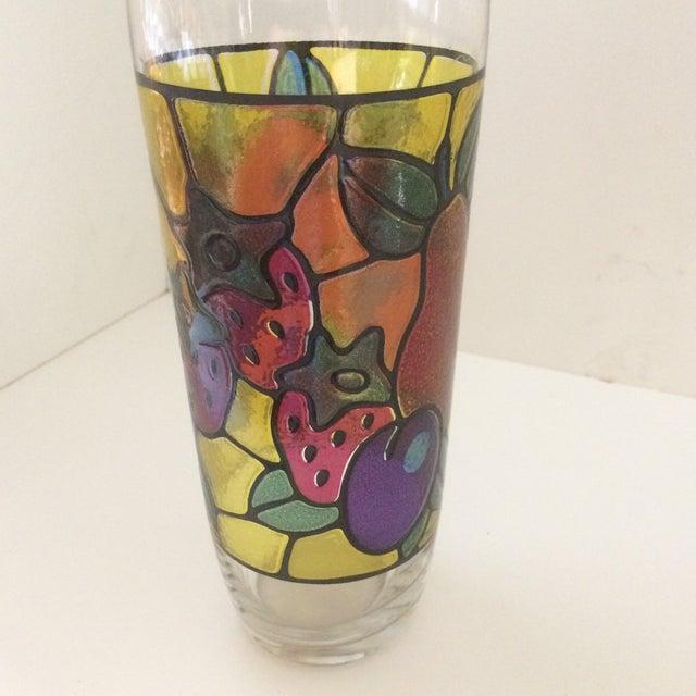 Vintage Mosaic 24 Oz. Fruit Pattern Cocktail Shaker For Sale - Image 10 of 11