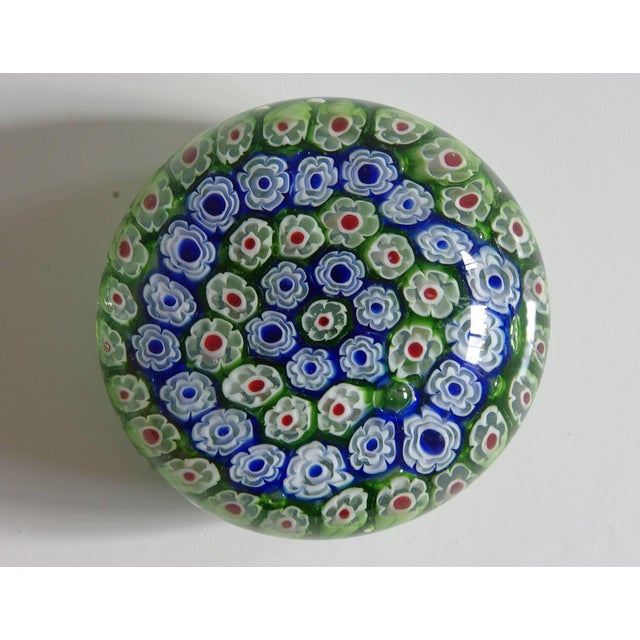 Collection of Eight Italian Murano Glass Millefiori Paperweights For Sale - Image 9 of 11