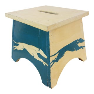 Greyhound Stool With Storage Compartment