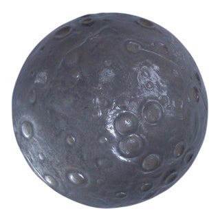 1960s Vintage German Moon Crater Planet Glass Paperweight For Sale