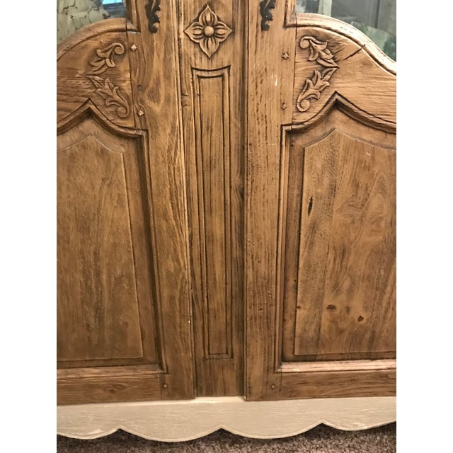 Acid Wash Mirrored Armoire For Sale - Image 10 of 12