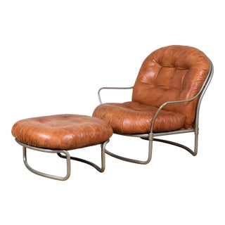 *1969 Carlo DiCarli Chair and Ottoman