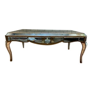 Hollywood Regency Butler Specialty Co Mirrored Coffee Table For Sale