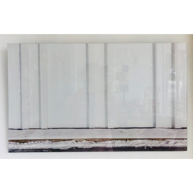 White Contemporary Urban Storefront Plexi Mounted Photograph For Sale - Image 8 of 13